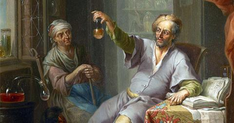 The Medical Alchemist by Franz Christoph Janneck, 18th century (Public Domain)